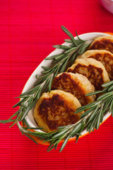 Cutlets with fresh rosemary