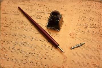 Musica Manoscritta con Pennino