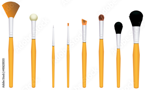 Brushes for cosmetics