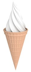 Ice cream isolated over white 3d illustration
