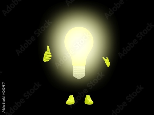 Lightbulb character.