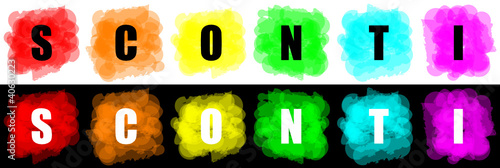 set of vector colorful paint splat for commerce