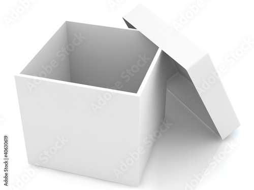 White open box