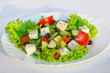 Greek salad horizontal