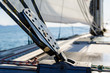 Sailing yacht rigging equipment: main sheet traveller