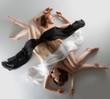 Beauty naked woman yin yang position