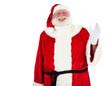 Weihnachtsmann winkt freundliche