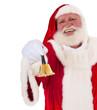 Weihnachtsmann klingelt die Glocke
