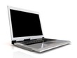 Laptop isolated with a blank screen.