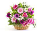 Fototapety colorful flowers in a basket