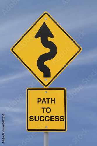 """Path to Success"" Conceptual Road Sign"