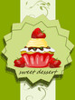 Muffin, Cup Cake mit Erdbeeren