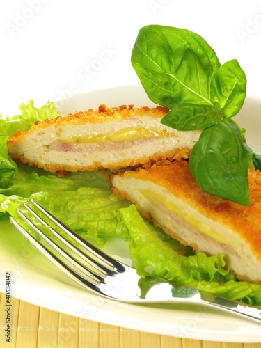 Cutlet, ioslated, close up