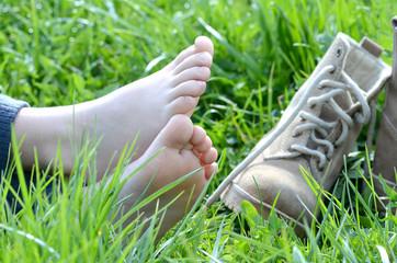 Füße mit Schuhen