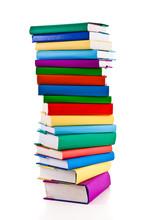 Pile de livres sur fond blanc