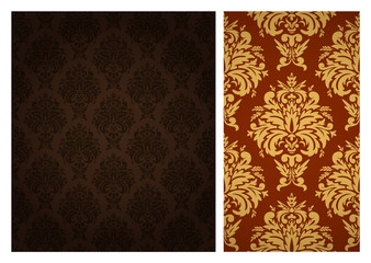 Seamless retro wallpaper pattern.