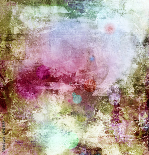 abstract painting in mixed media style - 40635899