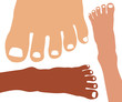 Healthy feet vector.