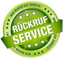 "Button Banner ""Rückruf Service"" grün"