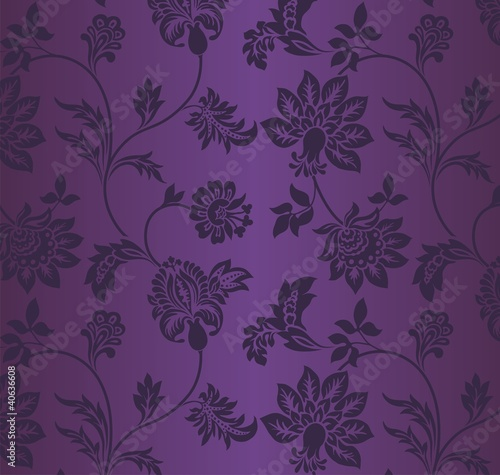 traditional floral pattern, textile design, royal India