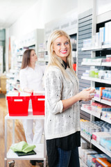 Woman at Pharmacy Store