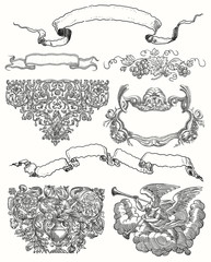 Cartouche set illustration