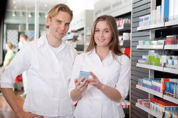 Two Pharmacists Consulting Each Other