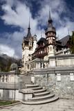 View of Peles Castle Tower, Sinaia Romania poster