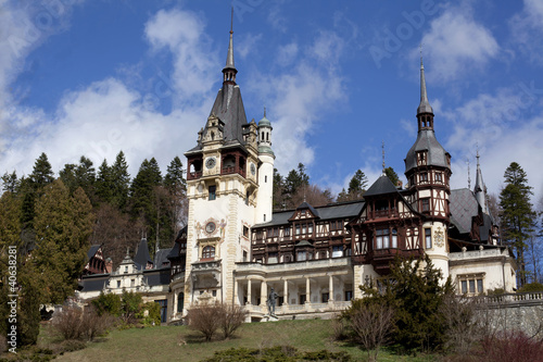 View of Peles Castle, Sinaia Romania