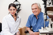 Smiling Optometrist With Her Patient