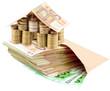 concept coût immobilier, maison argent