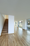 beautiful modern duplex, wooden staircase poster
