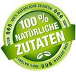 """Button Banner """"100 % natürliche Zutaten"""" grün"""