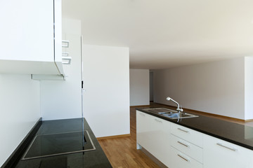 beautiful new apartment, interior, kitchen