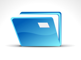 abstract blue folder icon