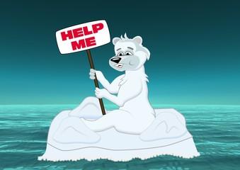 Nordpol 2025, der letzte Eisbär auf der Eisscholle