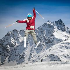 salto con sci