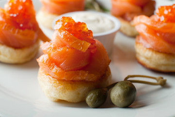 Salmon and Red Caviar