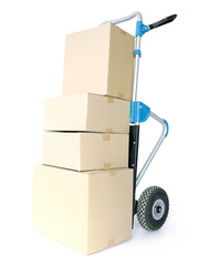 Parcels on hand truck
