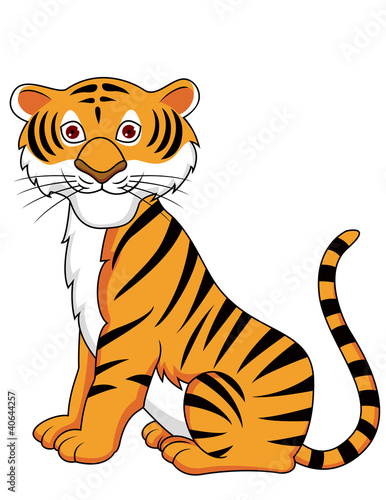 Tiger cartoon sitting