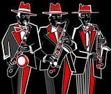 Fototapety saxophonists