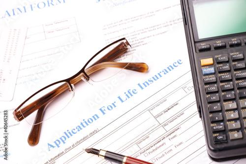 Life insurance application form