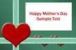 Fun Mother's Day Background with Space for Custom Text