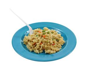 Rotini Pasta and Fork
