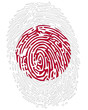Thumbprint  Flag colors of Japan