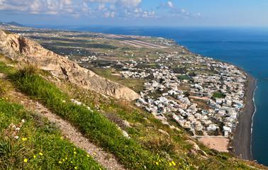 Kamari resort at Santorini island in Greece