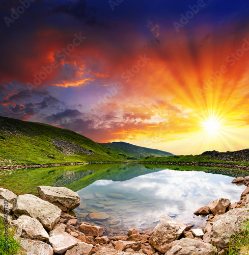 mountain lake - 40647283