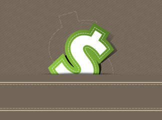 Money icon design on retro background