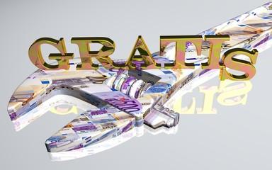 3D Werkzeug weiss - GRATIS