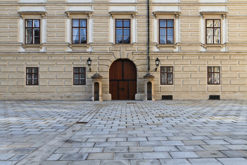 Vienna Hofburg Palace - Entrance Door in Inner Square